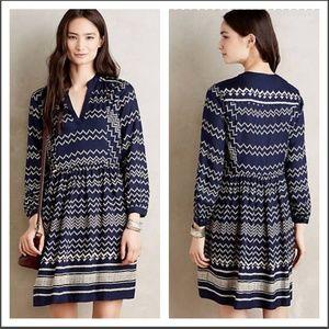 Antho • Chevron Long Sleeve Dress